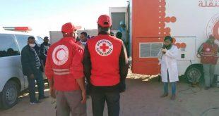 الهلال الأحمر الجزائري يقدم خدمات طبية للمهاجرين الافارقة