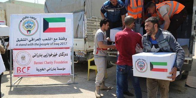 الهلال الاحمر الكويتي يوزع 3500 سلة غذائية بالموصل