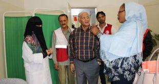 زيارة تفقدية لمندوبة الصليب الأحمر الالماني لمركز التدريب ومركز الاسعاف التابع لفرع صنعاء