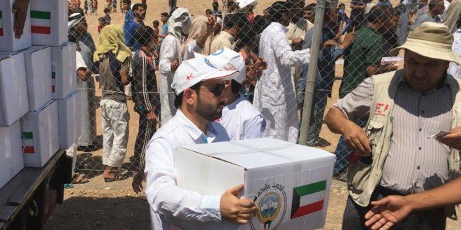 1500 سلة غذائية من الكويت لنازحين عراقيين في مخيم «الخازر»