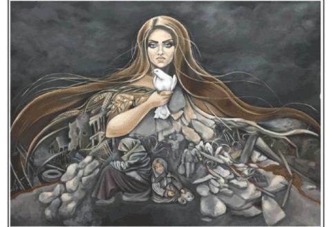 """الفنانان دبا وحمدون : """"ثورة سلام"""" دلالات رمزية لتضميد الجراحات"""